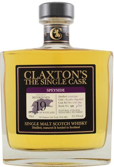 Benrinnes 1997/2017 Claxton's